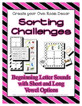 Beginning Sound Alphabet Sorting - Differentiating - Matching * Autism Pre-K