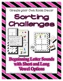 Beginning Sound Alphabet Sorting - Differentiating - Match
