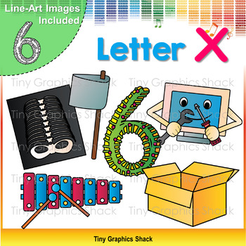Beginning Sound Alphabet X Clip Art