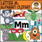 Beginning Sound Alphabet and Phonics Clip Art: Letter M [TWMM Clip Art]