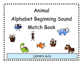 Beginning Sound Animal Match Adapted Book