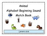 Beginning Sound Animal Match Adapted Book
