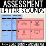 Beginning Sound/ Letter Sound Assessment