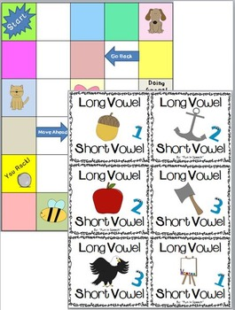 Beginning Sound BINGO and Long vs. Short Vowel Game!
