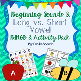 Beginning Sound BINGO and Long vs. Short Vowel Game!