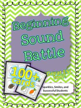 Beginning Sound Battle- Common Core Aligned Phonemic Awareness Game