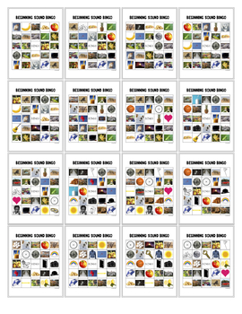 Beginning Sound Bingo – 30 Boards (English)