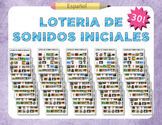 Beginning Sound Bingo – 30 Boards (Spanish)