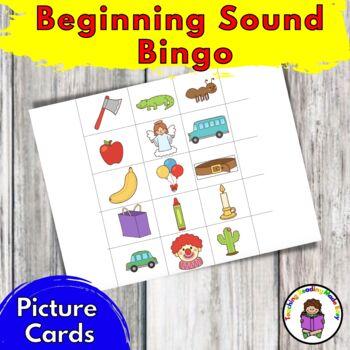 Beginning Sound Bingo -Great for RTI and beginning sound phonics fun!