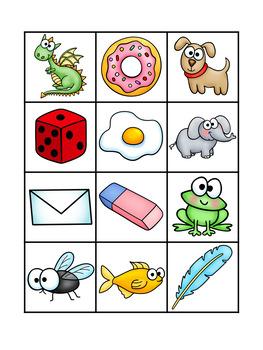 Beginning Sound Bingo - Literacy Center Activity