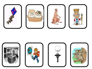 Beginning Sound Board Game For Letters P,F,K,J, I