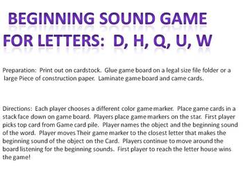 Beginning Sound Board Game - Isolate Beginning Phonemes
