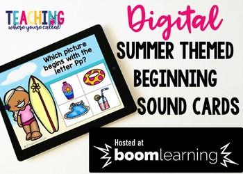 Beginning Sound Boom Cards - Summer Themed