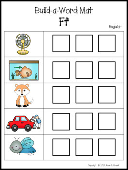Beginning Sound Activity - Letter Sounds: Build-a-Word Mats