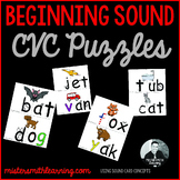 Beginning Sound CVC with picture matching activity