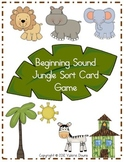 Beginning Sound Card Sort File Folder Game (JUNGLE THEME)