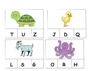 Beginning Sound Fluency Picture Cards