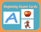 Beginning Sound Cards For Struggling Readers