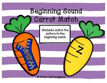 Beginning Sound Carrot Match