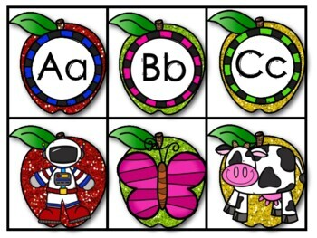 Kindergarten Beginning Sound Center Apple Theme Sample