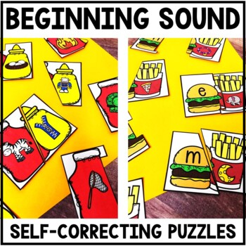 Beginning Sound Center - Self Correcting Beginning Sound Puzzles