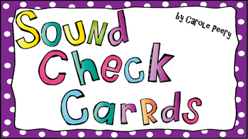 Beginning Sound Check Picture Cards