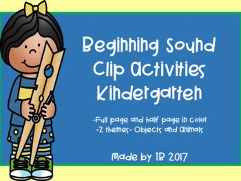 Beginning Sound Clip Activities