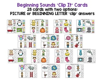 Beginning Sound Picture Cards