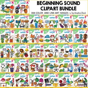 Beginning Sound Clip Art HUGE BUNDLE