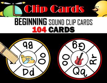 Beginning Sound Clip Cards