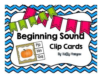 Beginning Sound Clip Cards- CHEVRON
