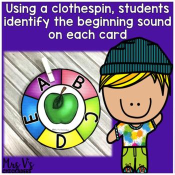 Beginning Sound Clip Cards: Center Activity