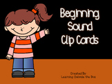 Beginning Sound Clip Cards--Centers or Morning Tubs