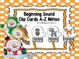Beginning Sound Clip Cards -Mitten