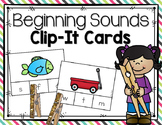 Beginning Sound Clip-It Cards