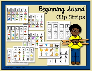 Beginning Sound Clip Strips + Bonus Matching Cards