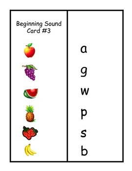 Beginning Sound Clothes Pin Match