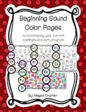 Beginning Sound Color Pages (Words Their Way) U1 Sorts 1-5 LetterName-Alphabetic