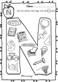 Beginning Sound Coloring Pages (Part 2)