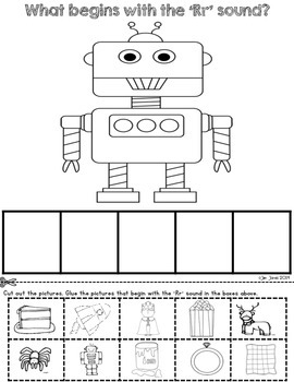 Beginning Sound Cut and Paste Activities