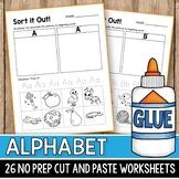 Beginning Letter Sounds Matching Sort Alphabet Tracing Worksheets