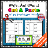 Beginning Sound Worksheets Cut and Paste Distance Learning