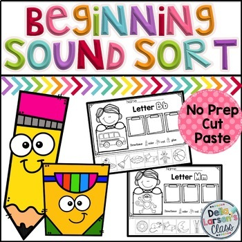 Beginning Sound Cut and Paste Worksheets