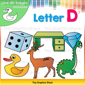 Beginning Sound D Clip Art
