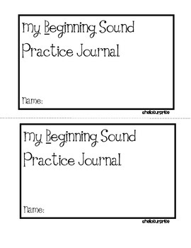 Beginning Sound Daily Practice Journal