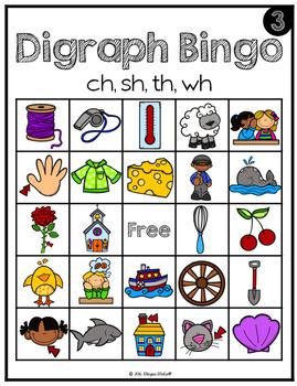Beginning Sound: Digraph Bingo