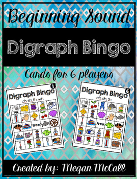 Beginning Sound: Digraph Bingo
