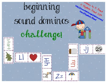 Beginning Sound Dominos CHALLENGE