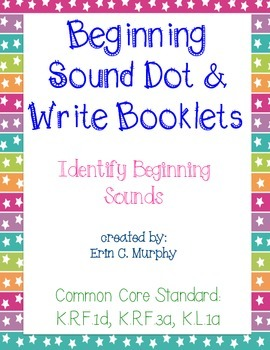 Beginning Sound Dot and Write Booklets