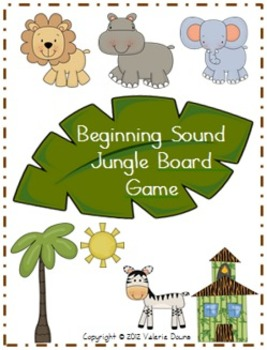 Beginning Sound File Folder Board Game (JUNGLE THEME)